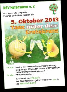 Einladungsplakat Erntedankfest 2013