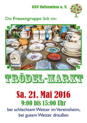Plakat: Trödelmarkt der Frauengruppe 2016